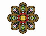 Mandala de inspiración árabe