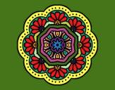Dibujo Mandala mosaico modernista pintado por Chapardi