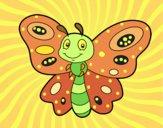 Dibujo Mariposa fantasía pintado por GabyMil