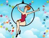 Dibujo Mujer trapecista pintado por azulcita