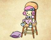 Dibujo Muñeca sentada pintado por azulcita
