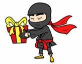 Ninja con un regalo