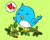 Dibujo Pájaro de Twitter pintado por milydg