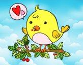 Dibujo Pájaro de Twitter pintado por GabyMil