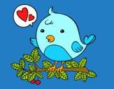 Dibujo Pájaro de Twitter pintado por Mariox235