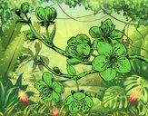 Dibujo Rama de cerezo pintado por amalia