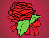 Dibujo Rosa, flor pintado por amalia