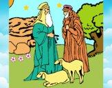 Dibujo Pastores pintado por LunaLunita