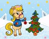 Dibujo Poni navideño pintado por LunaLunita