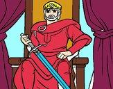 Dibujo Caballero rey pintado por Potte