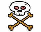 Dibujo Calavera pirata pintado por lalo2