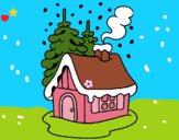 Dibujo Casa en la nieve pintado por LunaLunita