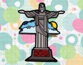 Dibujo Cristo Redentor pintado por superbea