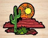 Dibujo Desierto de Colorado pintado por superbea