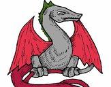 Dibujo Dragón 2 pintado por Potte