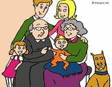 Dibujo Familia pintado por Potte