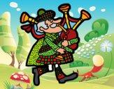 Dibujo Gaitero escocés pintado por superbea