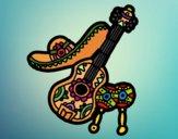 Dibujo Instrumentos mexicanos pintado por superbea