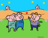 Dibujo Los tres cerditos 5 pintado por LunaLunita