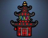 Dibujo Pagoda china pintado por superbea