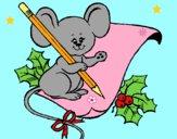 Dibujo Ratón con lapiz y papel pintado por LunaLunita