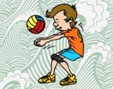 Dibujo Saque de voleibol pintado por joseraul