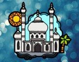 Dibujo Taj Mahal pintado por superbea