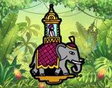 Dibujo Taxi-elefante pintado por superbea