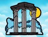 Dibujo Templo de Zeus Olímpico pintado por superbea
