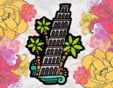 Dibujo Torre de Pisa pintado por superbea