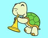 Tortuga con trompeta