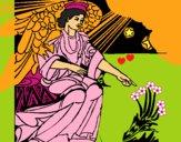 Dibujo Ángel del pesebre pintado por LunaLunita