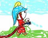 Bombero con la manguera