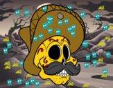 Calavera mejicana con bigote