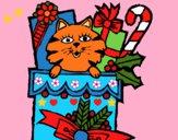 Dibujo Calcetín con regalos pintado por LunaLunita