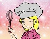 Dibujo Cocinera pintado por Potte