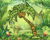 Dibujo Cocotero pintado por queyla