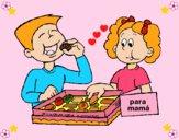 Dibujo Comiendo ricos bombones pintado por LunaLunita