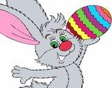 Dibujo Conejo y huevo de pascua II pintado por Potte