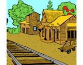 Dibujo Estación de tren pintado por francisco3