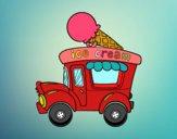 Dibujo Food truck de helados pintado por adricaso