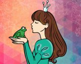Dibujo La princesa y la rana pintado por ItzelFL
