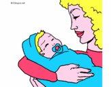 Madre con su bebe II