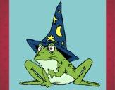 Dibujo Mago convertido en rana pintado por adricaso