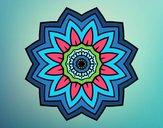 Dibujo Mandala flor de girasol pintado por Gorritz