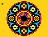 Dibujo Mandala flor pintado por Majestic