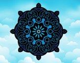 Dibujo Mandala nube pintado por superbea