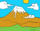Dibujo Monte Fuji pintado por LunaLunita