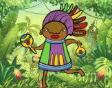 Dibujo Nativo africano pintado por queyla