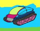 Dibujo Nave tanque pintado por RocioNayla